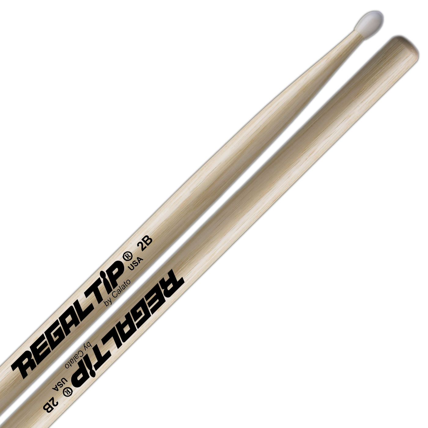 Regal Tip Classic Hickory 2B Drumsticks with Nylon Tip