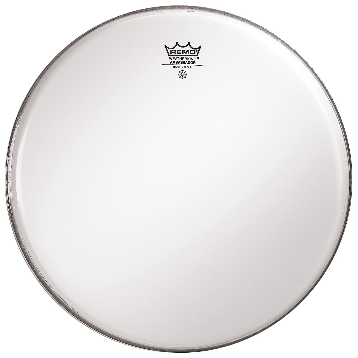 "Remo 13"" Ambassador Smooth White Drum Head"