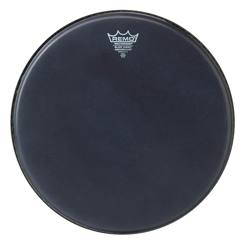 "Remo 14"" Ambassador Black Suede Drum Head"