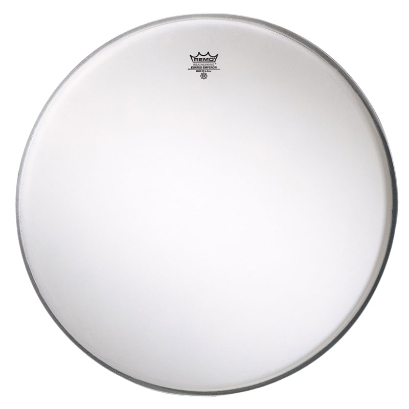 "Remo 18"" Emperor Smooth White Crimplock Marching Bass Drum Head"