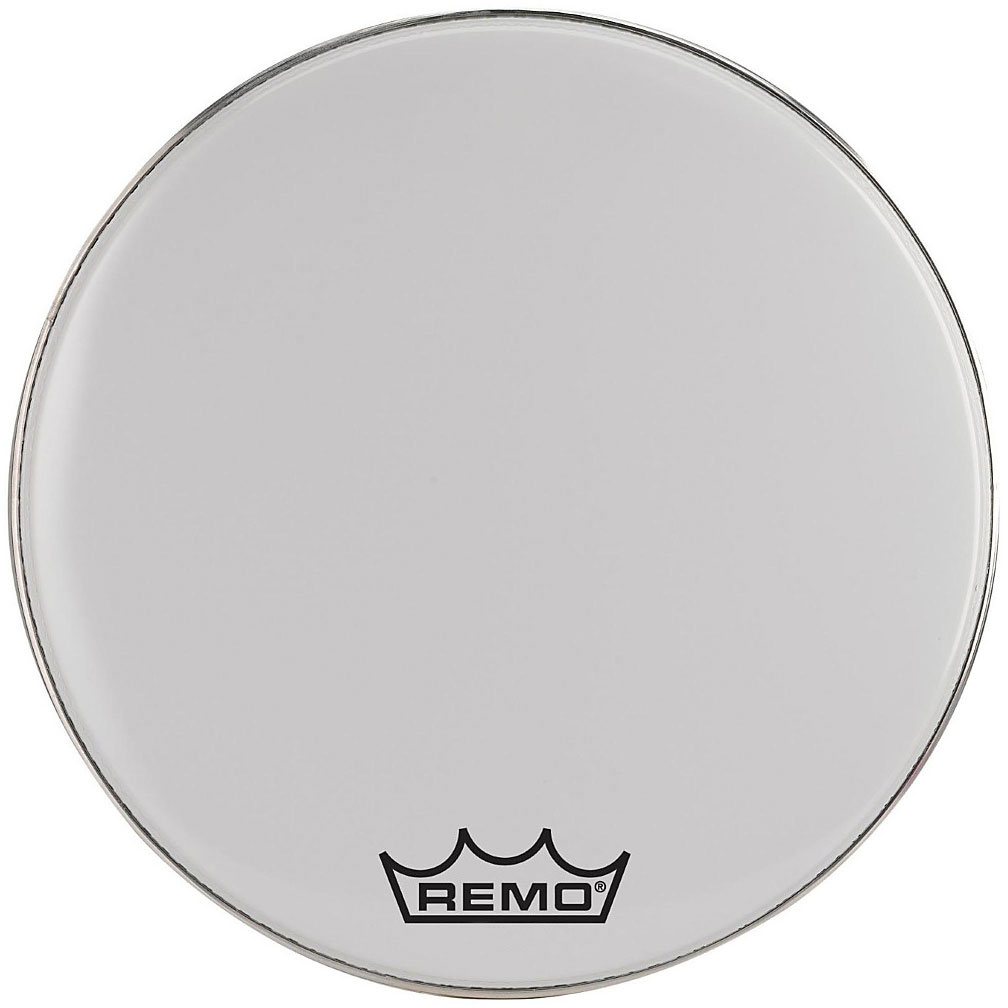 "Remo 28"" Emperor Smooth White Crimplock Marching Bass Drum Head"