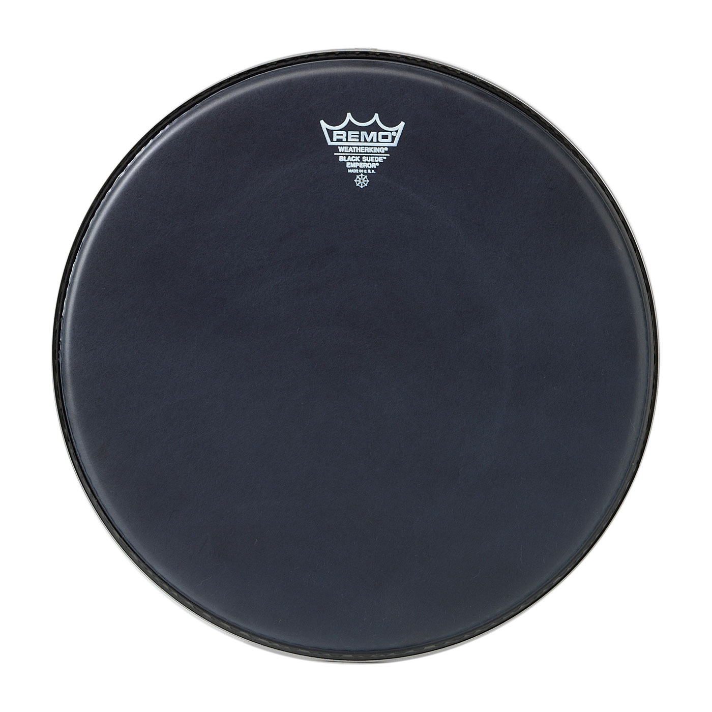"Remo 16"" Emperor Black Suede Bass Drum Head"