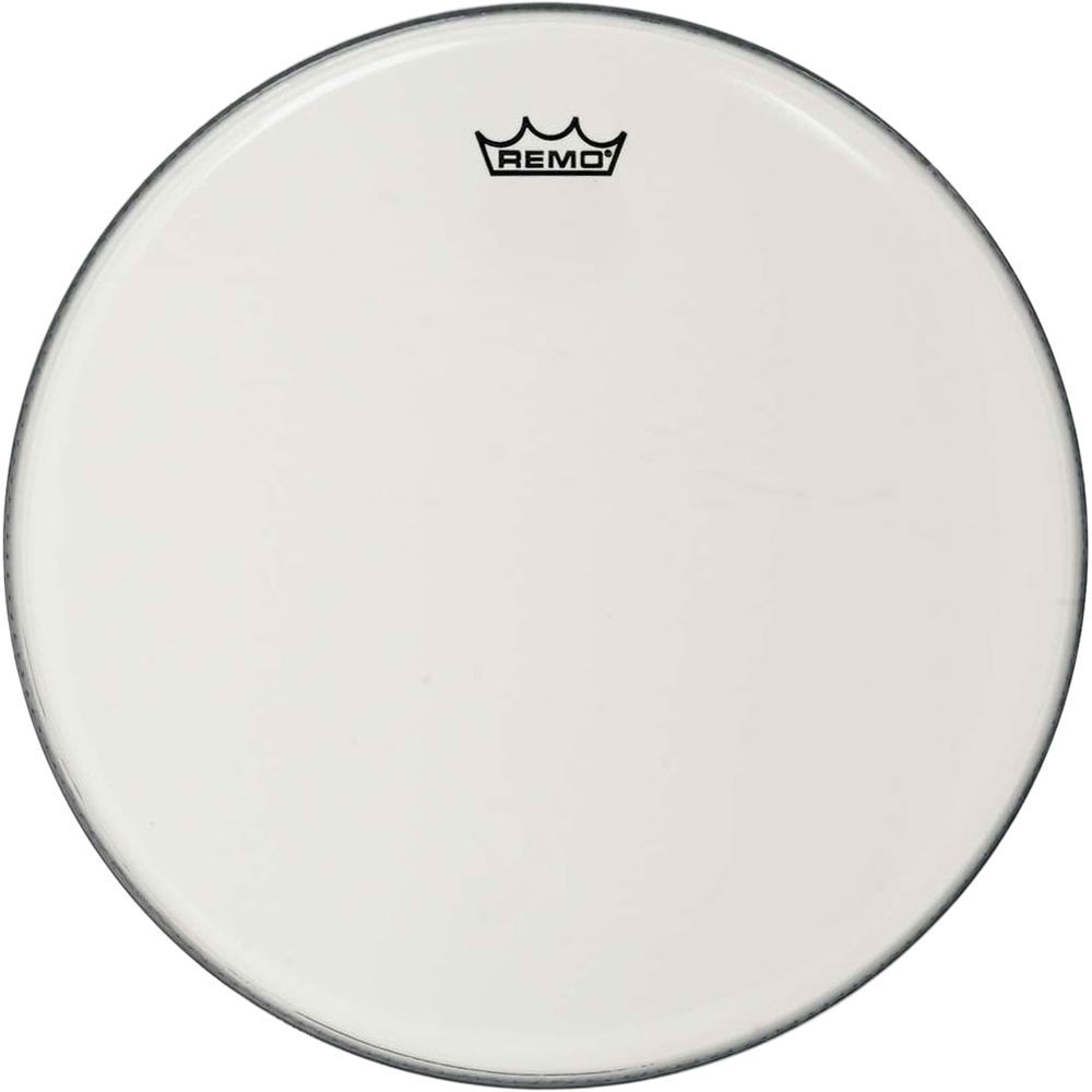 "Remo 14"" Ambassador Smooth White Crimplock Marching Bass Drum Head"