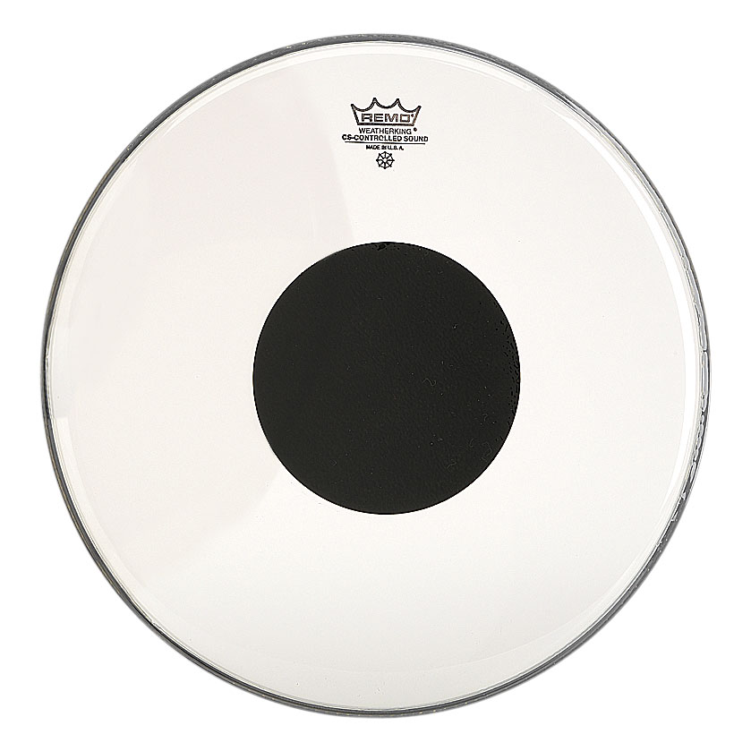 "Remo 12"" Controlled Sound Clear Drum Head with Black Dot"