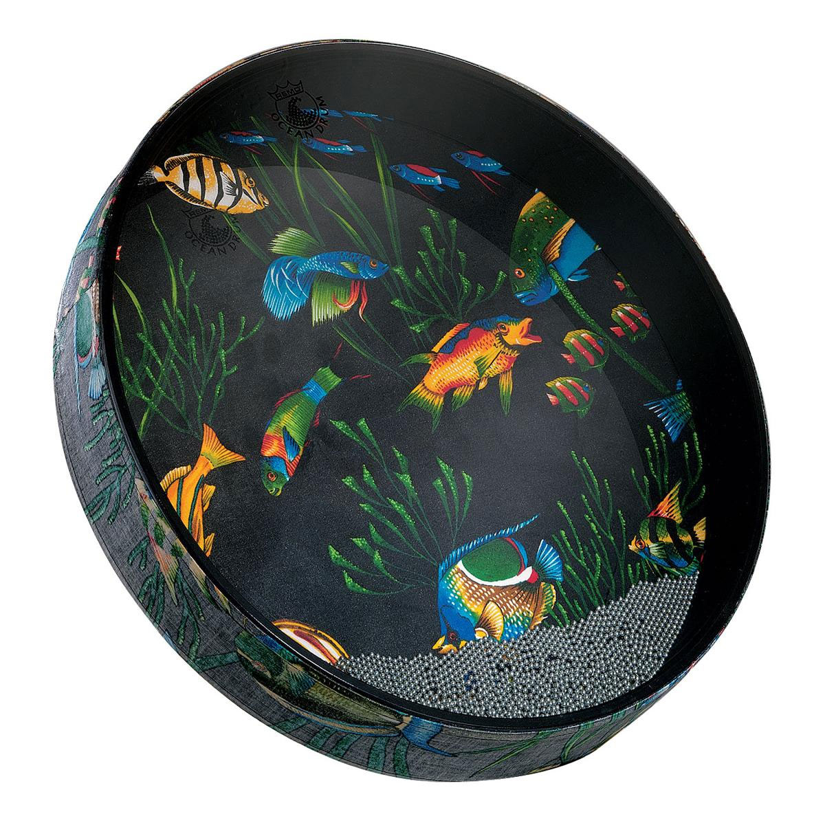 "Remo 2.5"" x 12"" Ocean Drum with Fish Graphic"