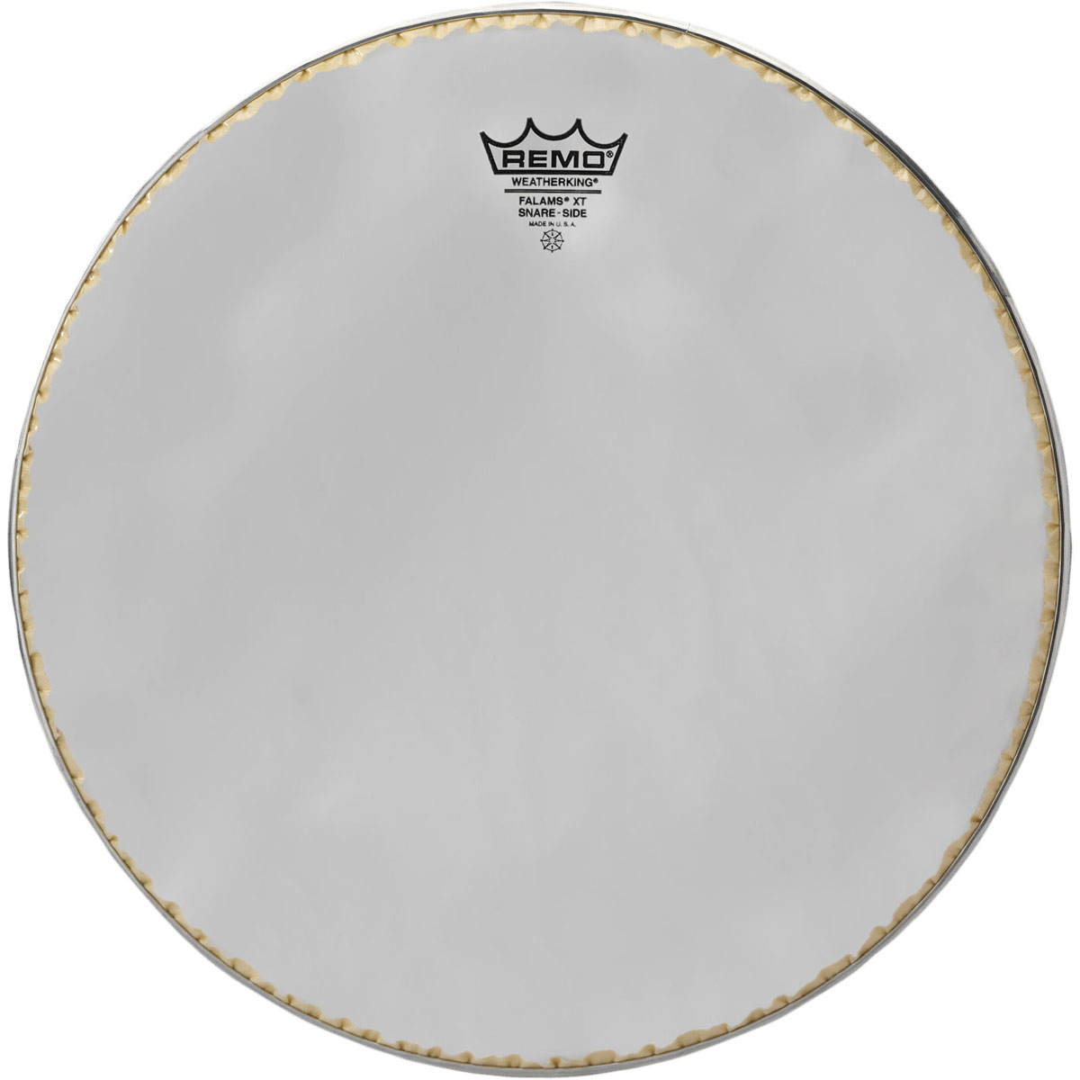 """Remo 14"""" Smooth White Falams XT Marching Snare Bottom Head with Underlay Ring"""
