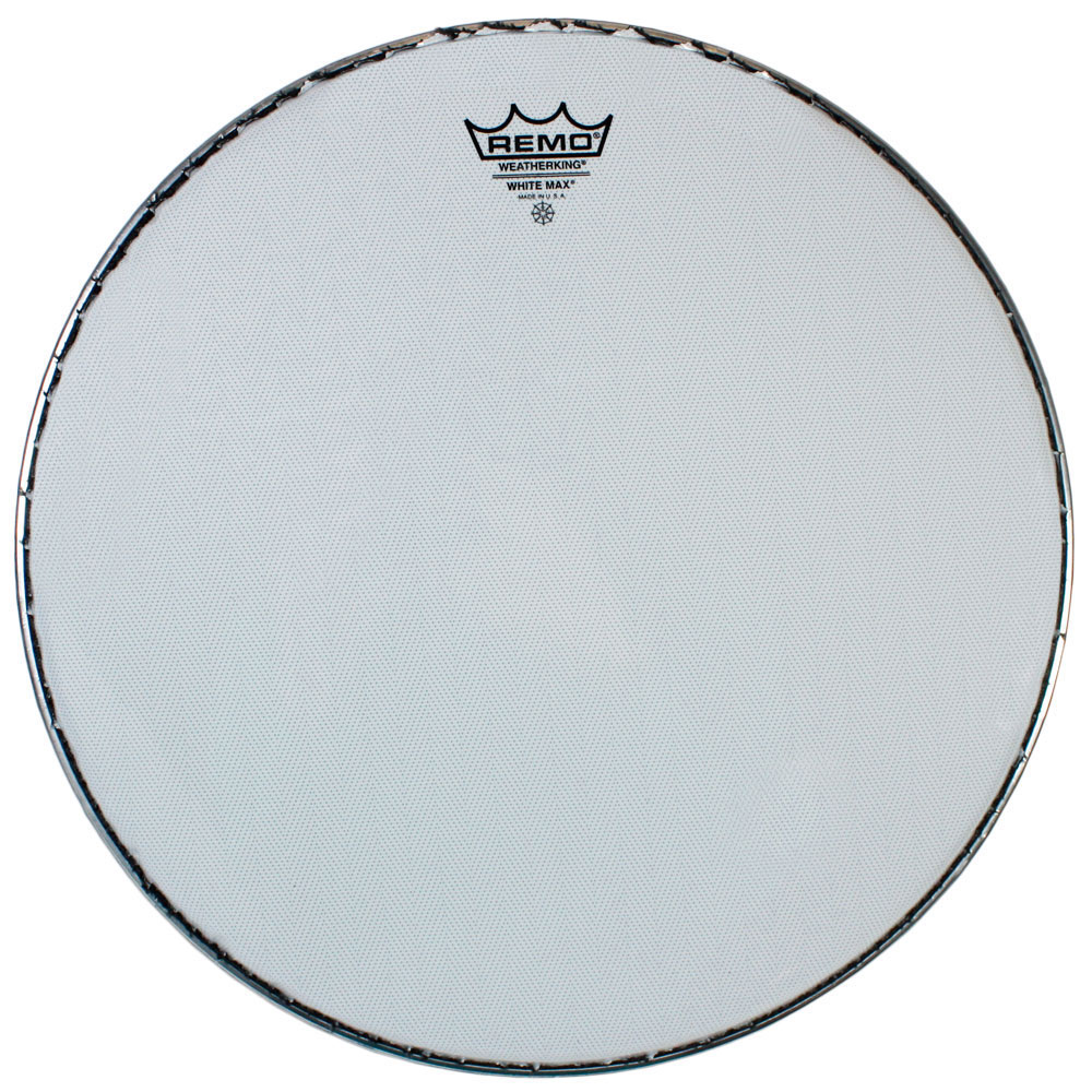 "Remo 14"" White Max Marching Snare Drum Top (Batter) Head with Underlay"