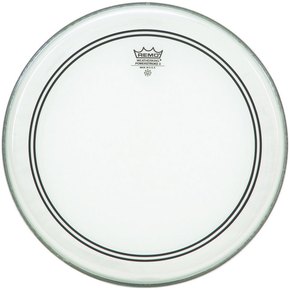 """Remo 13"""" Powerstroke P3 Clear Drum Head with Clear Dot"""