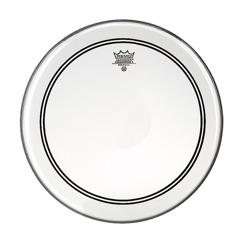 "Remo 14"" Powerstroke P3 Clear Drum Head with Clear Dot"