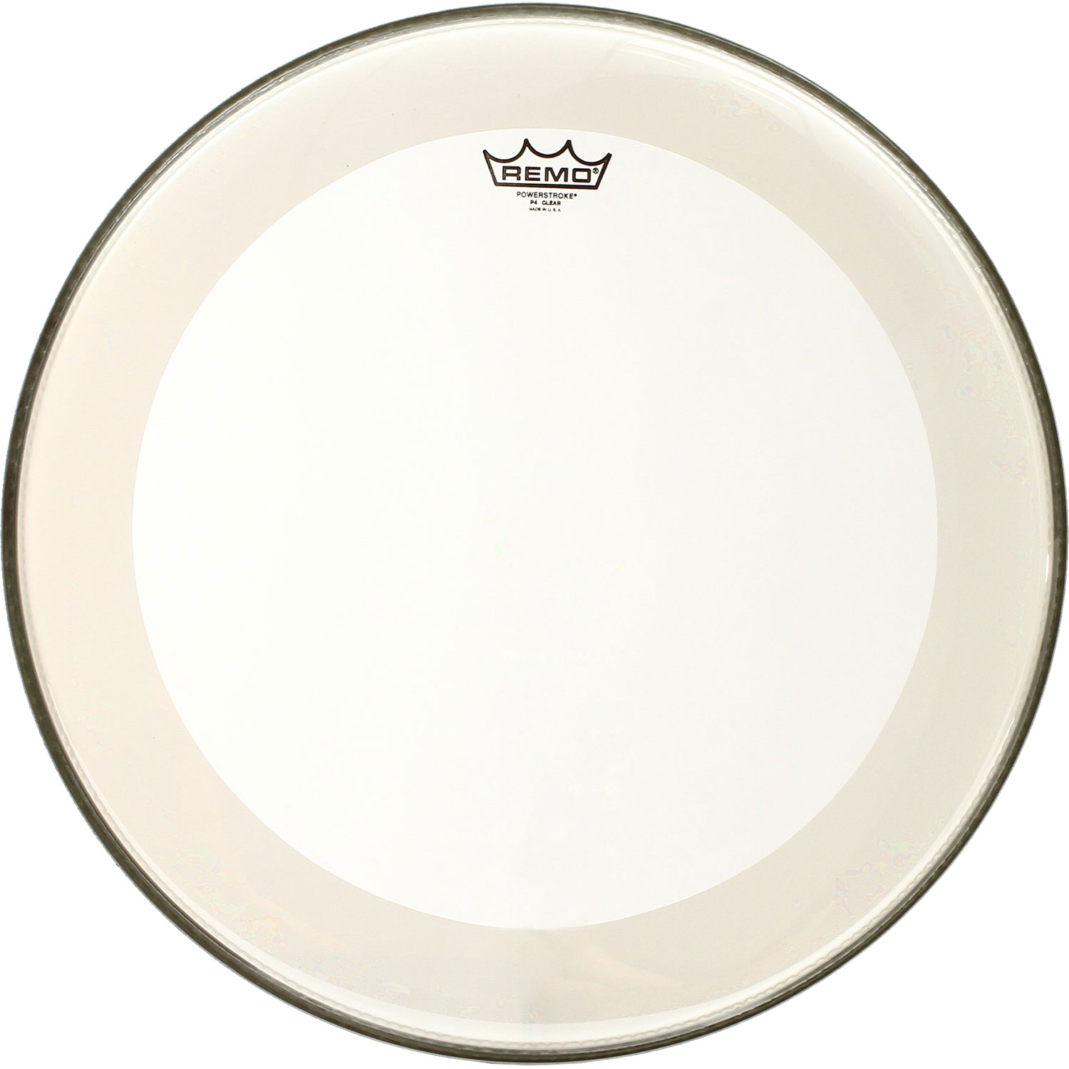 "Remo 20"" Powerstroke P4 Clear Bass Drum Head with Falam Patch"