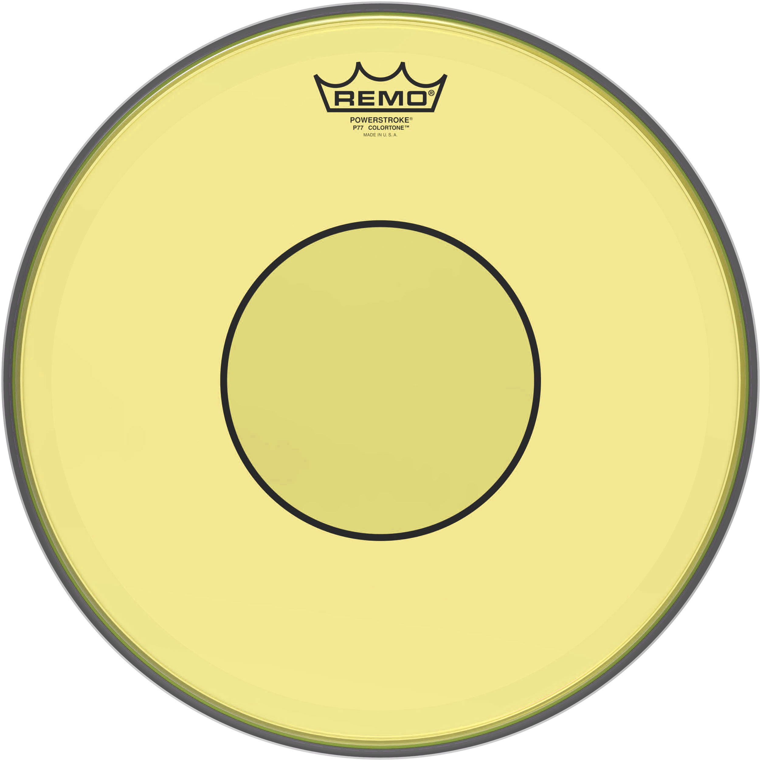 "Remo 13"" Powerstroke 77 Colortone Yellow Drum Head"