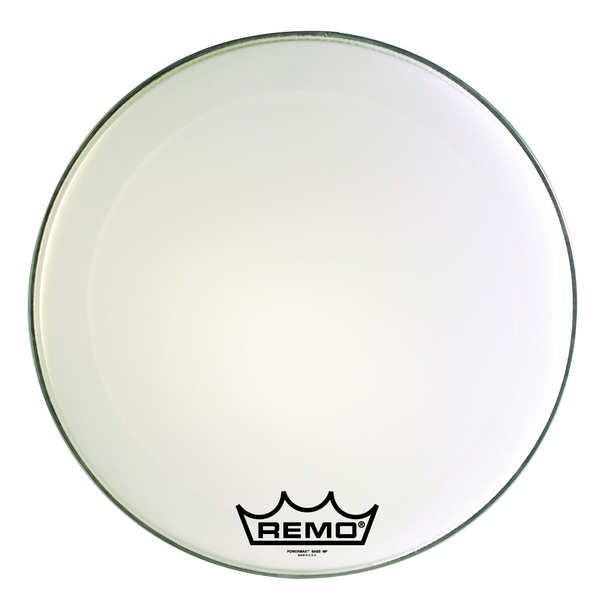 "Remo 14"" Powermax Ultra White Crimplock Marching Bass Drum Head"
