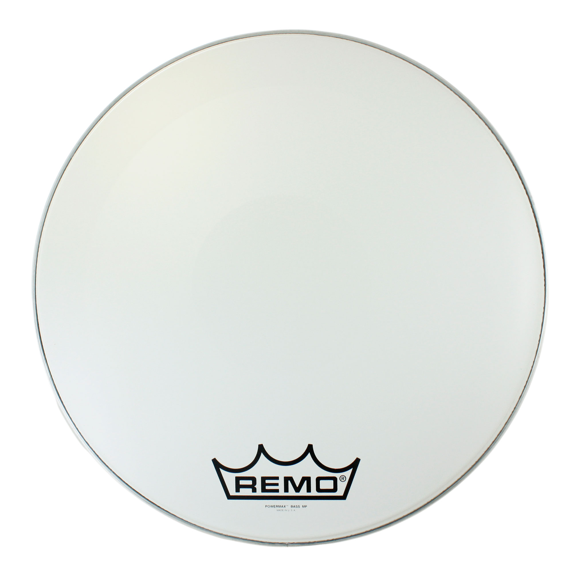 "Remo 20"" Powermax Ultra White Crimplock Marching Bass Drum Head"