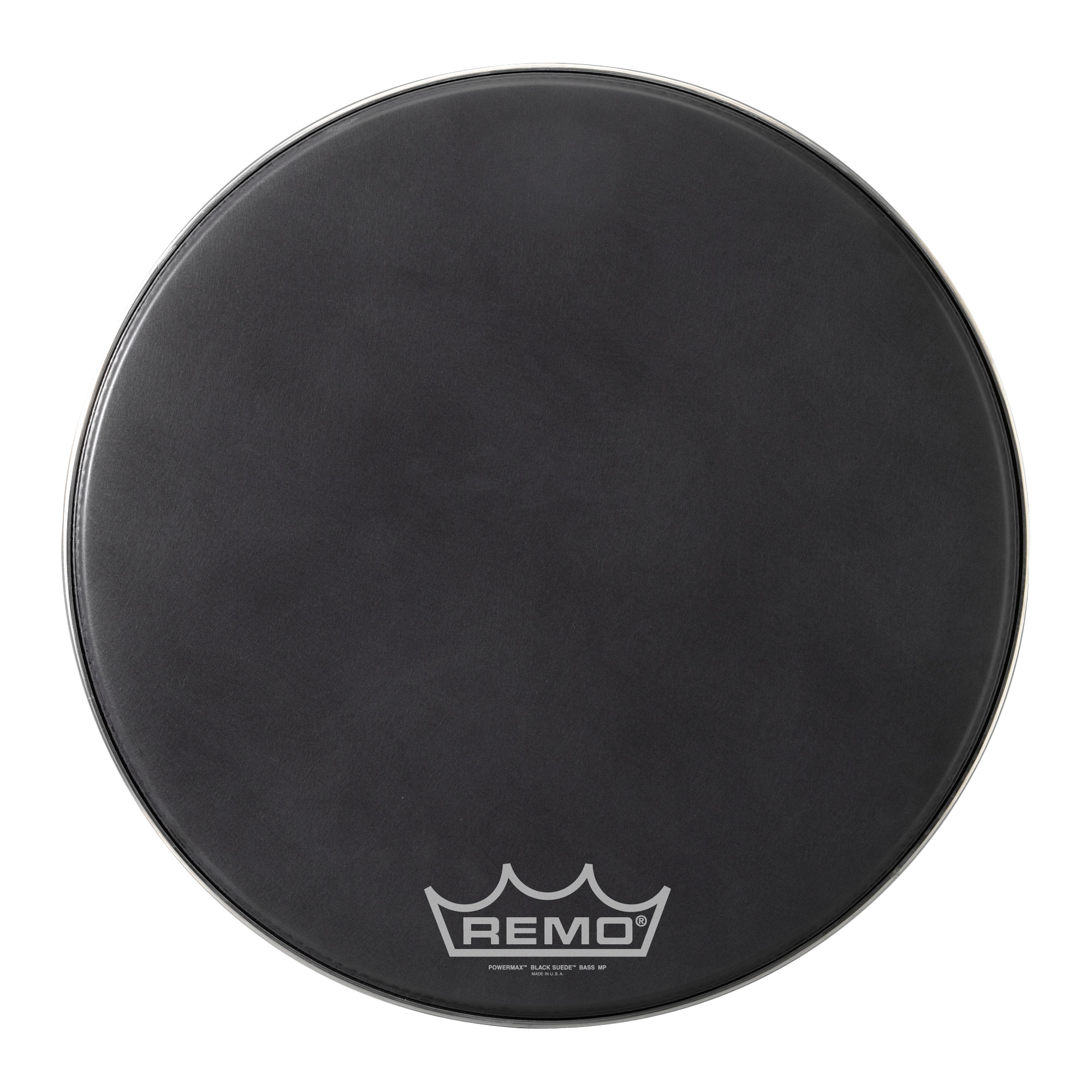 "Remo 20"" Powermax Black Suede Crimplock Marching Bass Drum Head"