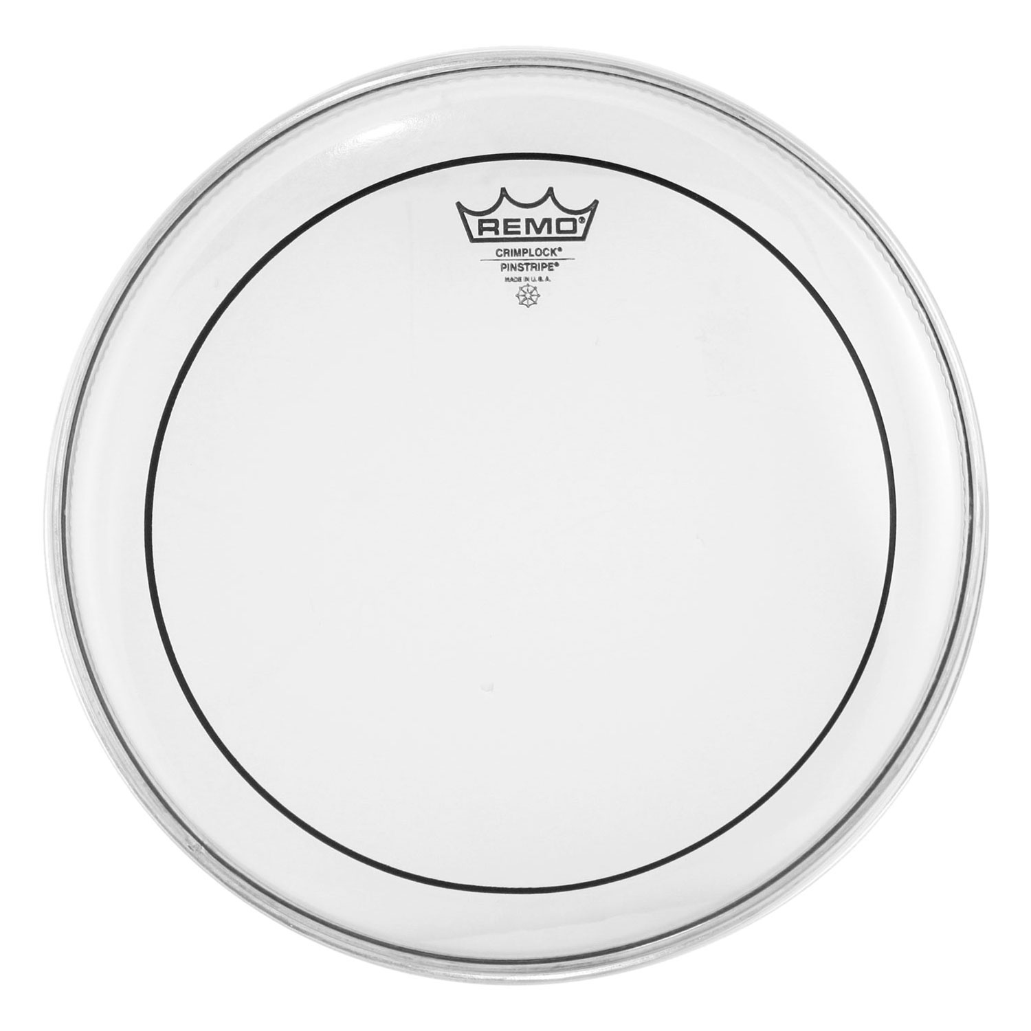 "Remo 12"" Pinstripe Clear Crimplock Marching Tenor Drum Head"