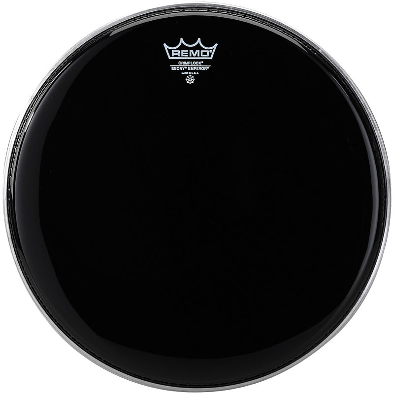"Remo 13"" Pinstripe Ebony Crimplock Marching Tenor Drum Head"
