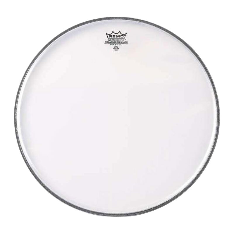 """Remo 13"""" Clear Ambassador Marching Snare Bottom Head"""