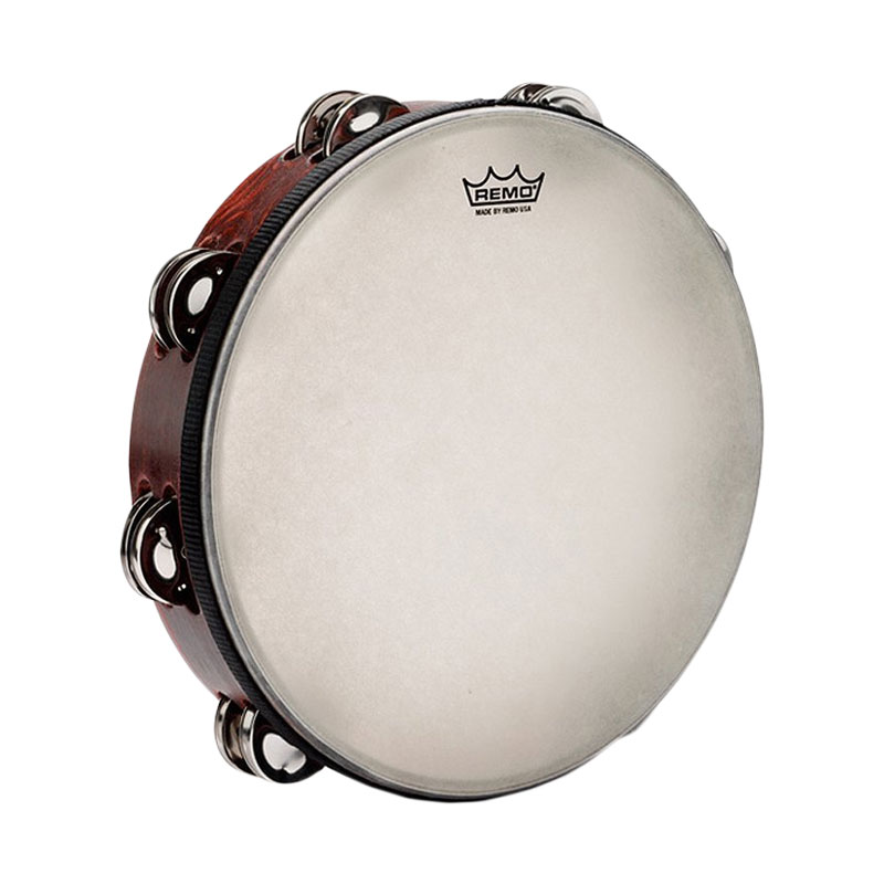 "Remo 10"" Gospel Steel Tambourine (Synthetic Head)"