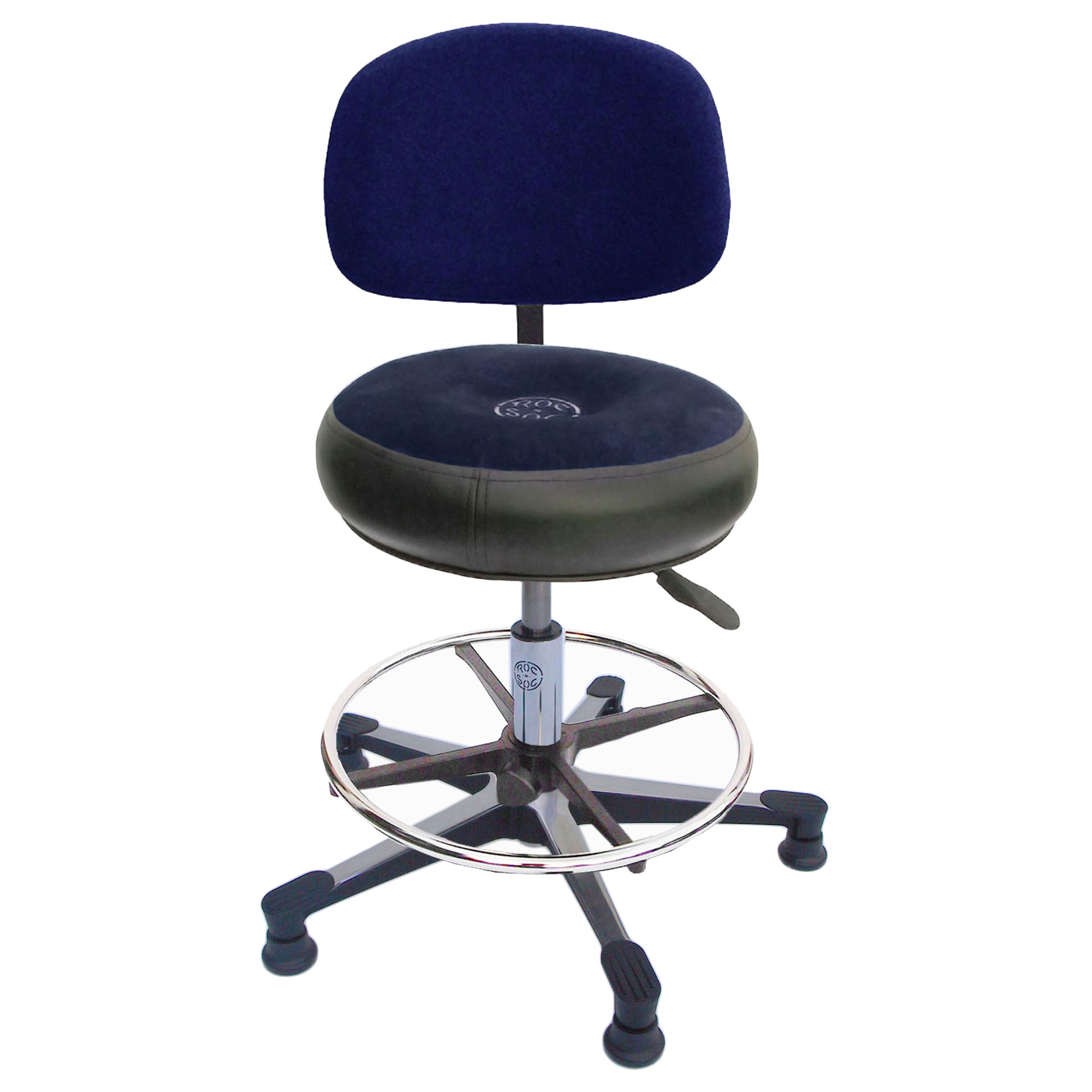 roc n soc lunar gas lift drum throne with round back rest foot ring chrome hardware clsg fr r w b. Black Bedroom Furniture Sets. Home Design Ideas