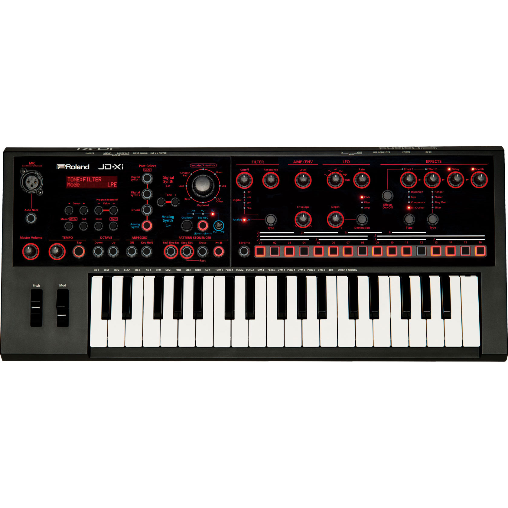 Roland 37-Key Interactive Analog/Digital Crossover Synthesizer with Vocoder