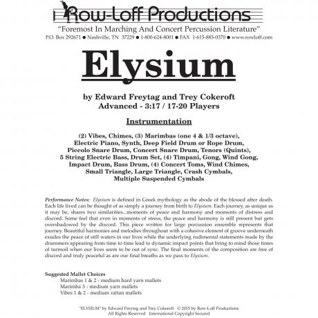 Elysium by Edward Freytag and Trey Cokeroft