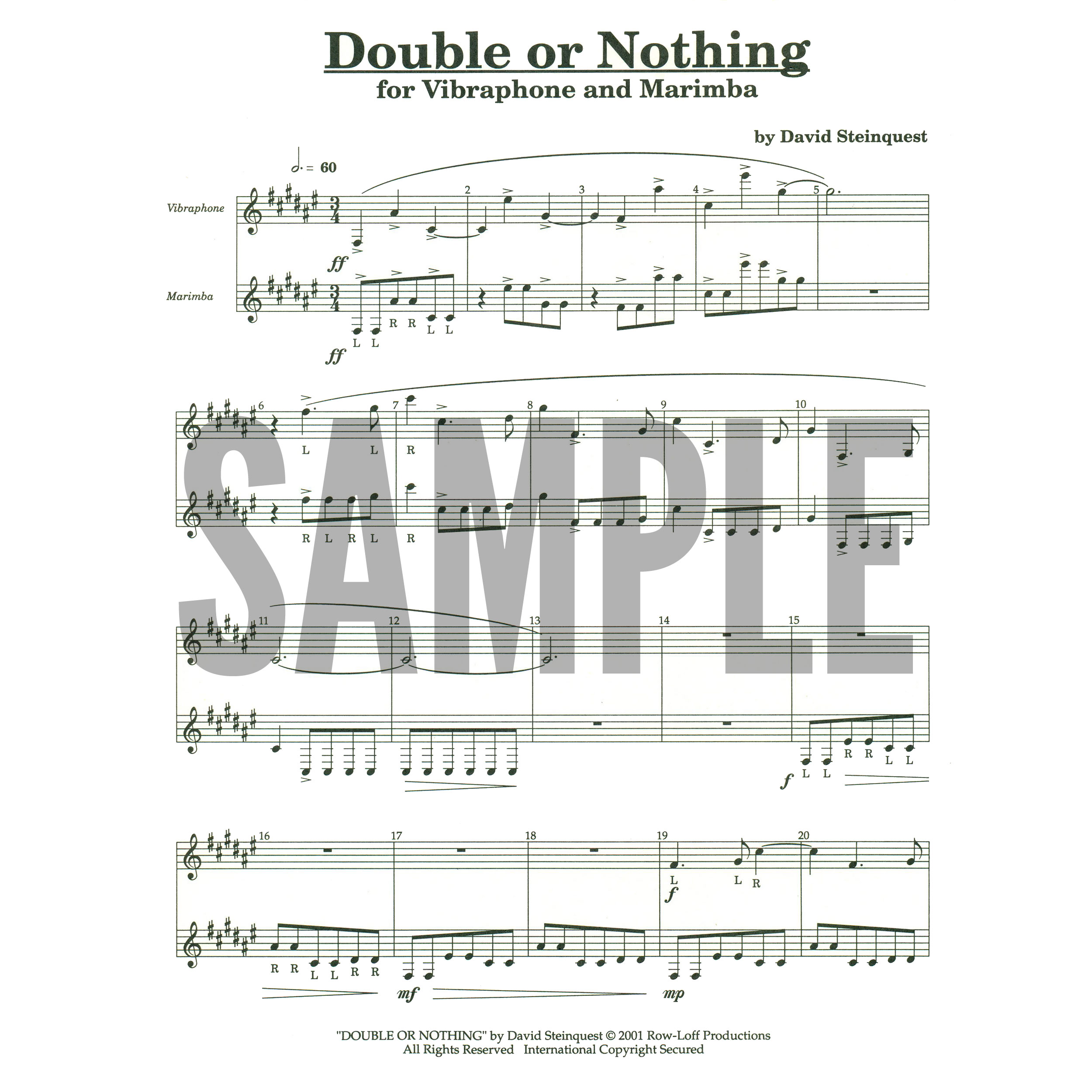 Double or Nothing by David Steinquest