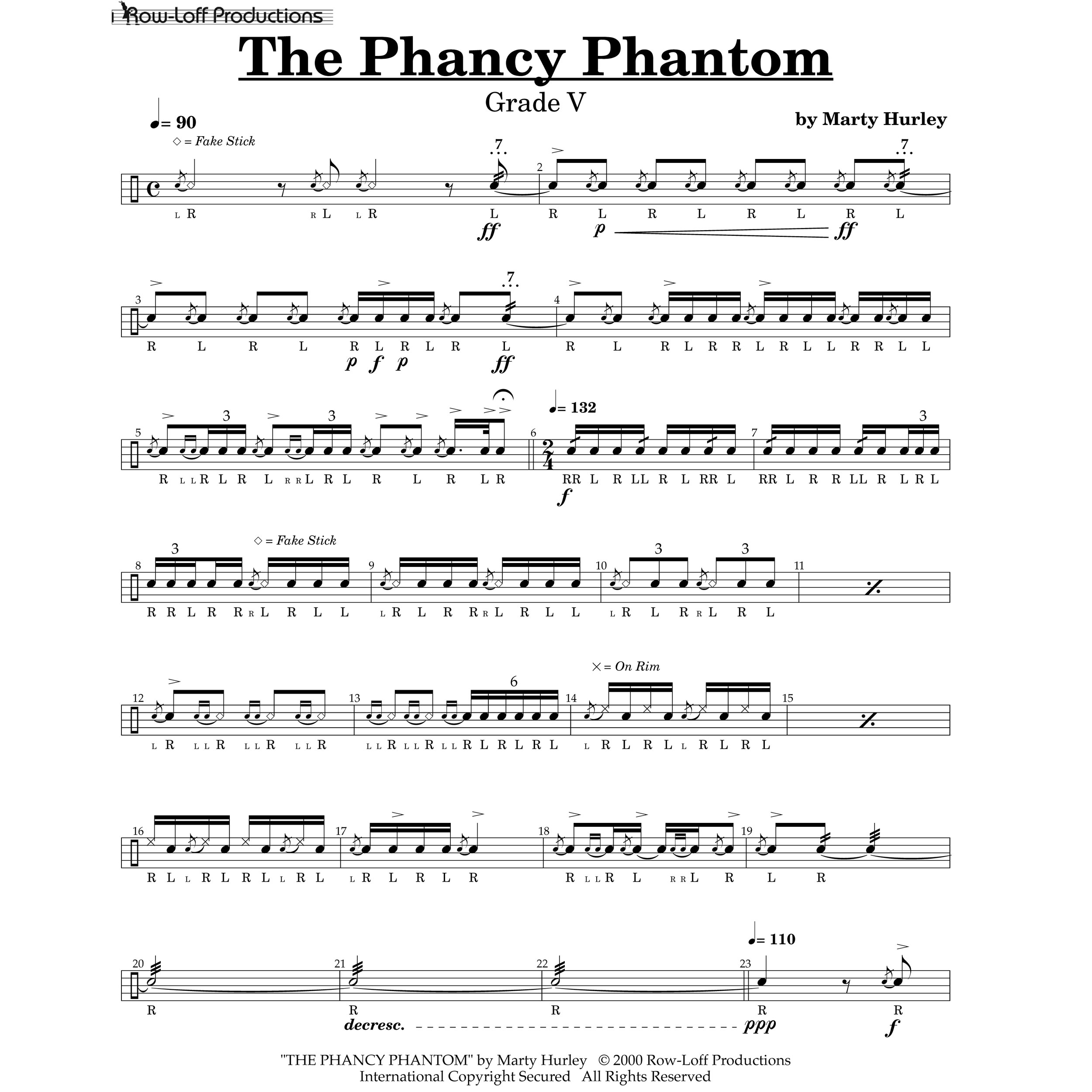 The Phancy Phantom By Marty Hurley | Snare Drum Solo (Row ...