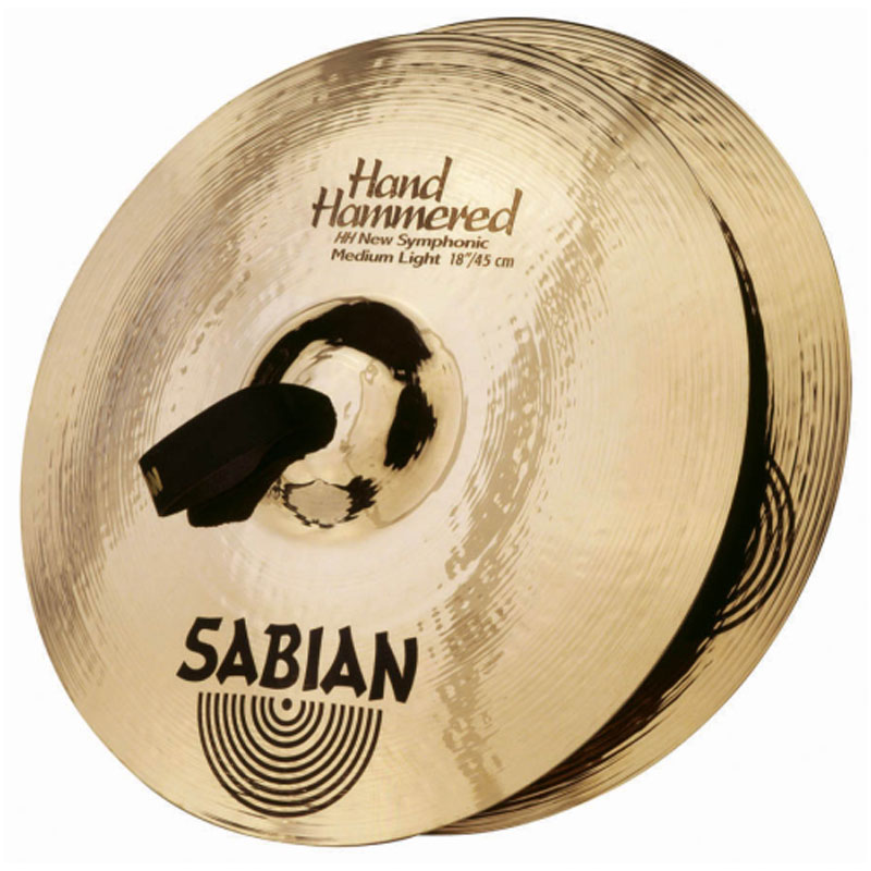 "Sabian 18"" New Symphonic Medium-Light Crash Cymbal Pair"