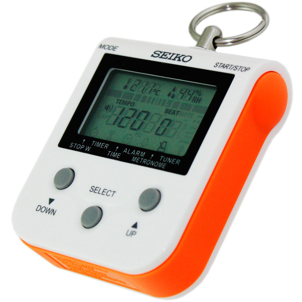 New Seiko DM90D Compact Multi-Function Metronome with Neck Strap Orange