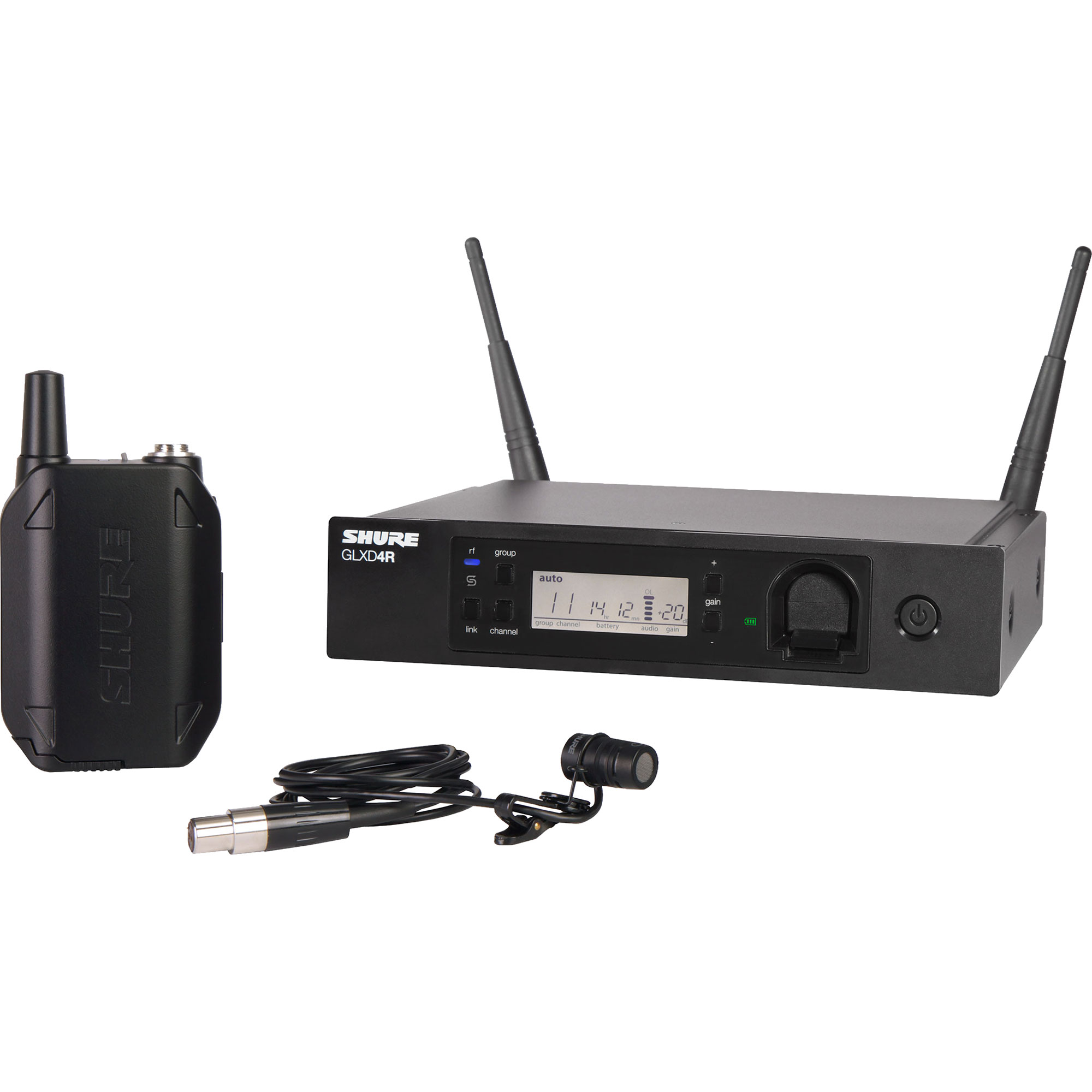 Shure GLX-D Advanced Rack Mountable Bodypack Wireless System with WL185 Lavalier Microphone