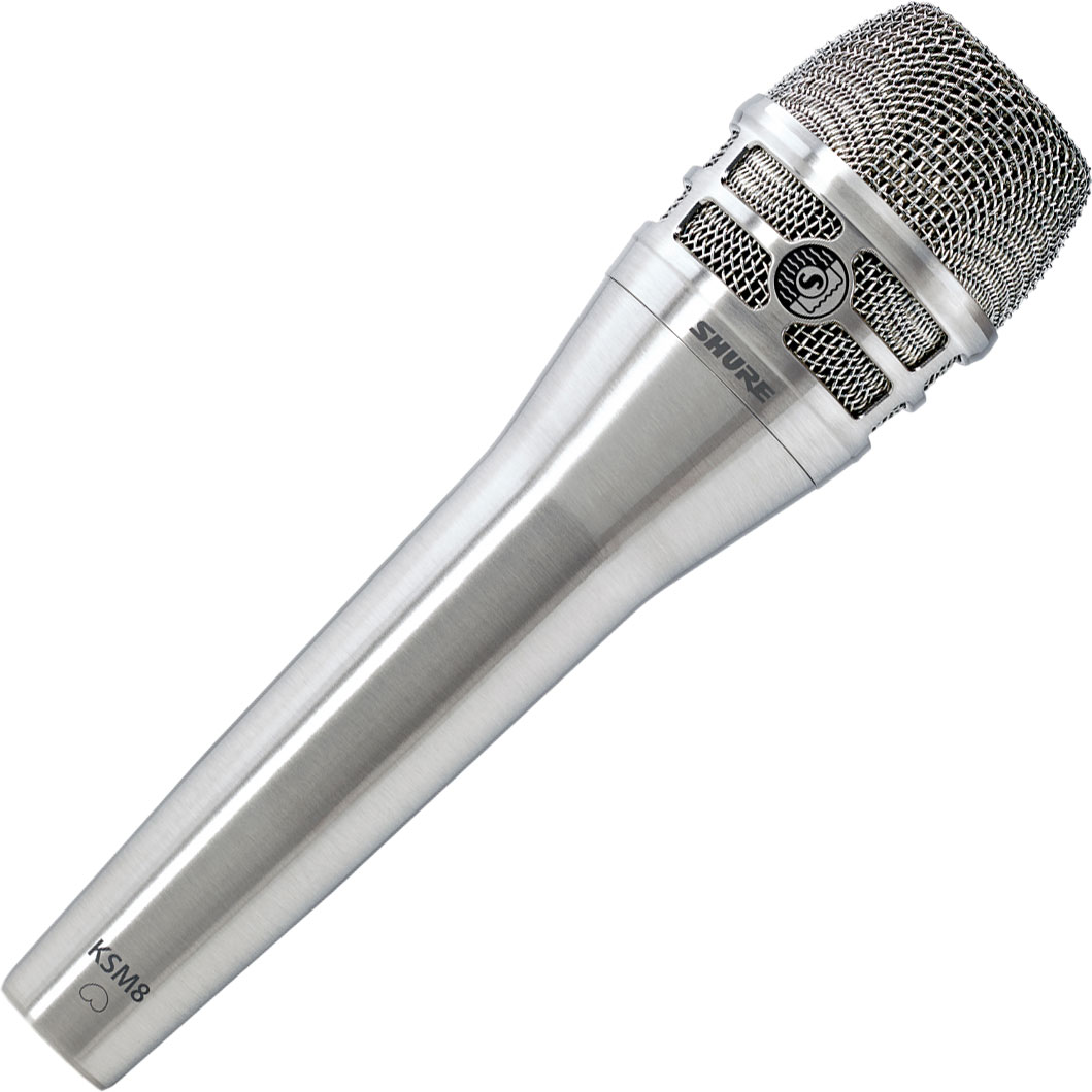 Shure KSM8/N Dualdyne Dynamic Vocal Microphone in Brushed Nickel
