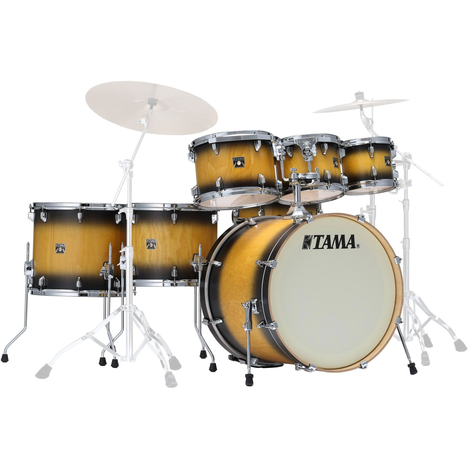 "Tama Superstar Classic Exotix 7-Piece Drum Set Shell Pack (22"" Bass, 8/10/12/14/16"" Toms, 14"" Snare)"