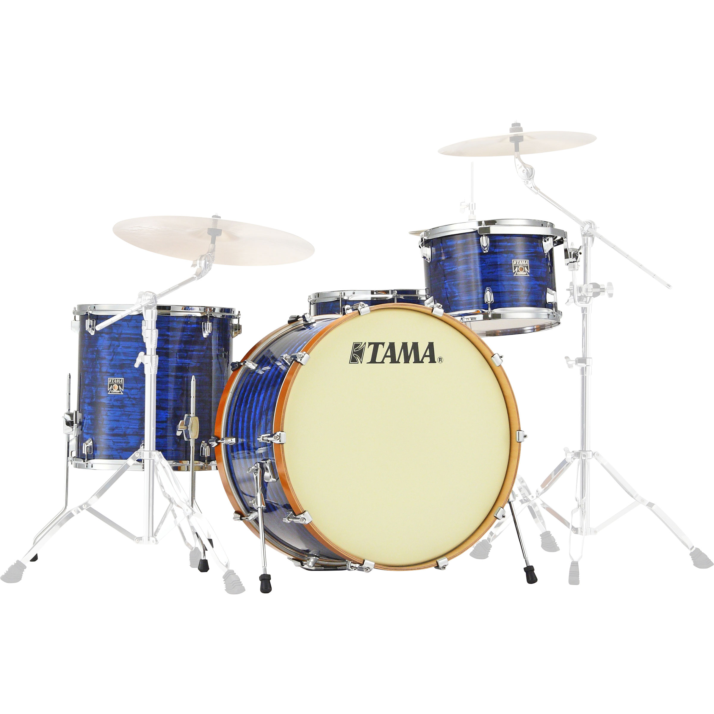"""Tama Superstar Classic Maple Limited Edition 4-Piece Drum Set Shell Pack (24"""" Bass, 13/16"""" Toms, 14"""" Snare) in Blue Onyx"""