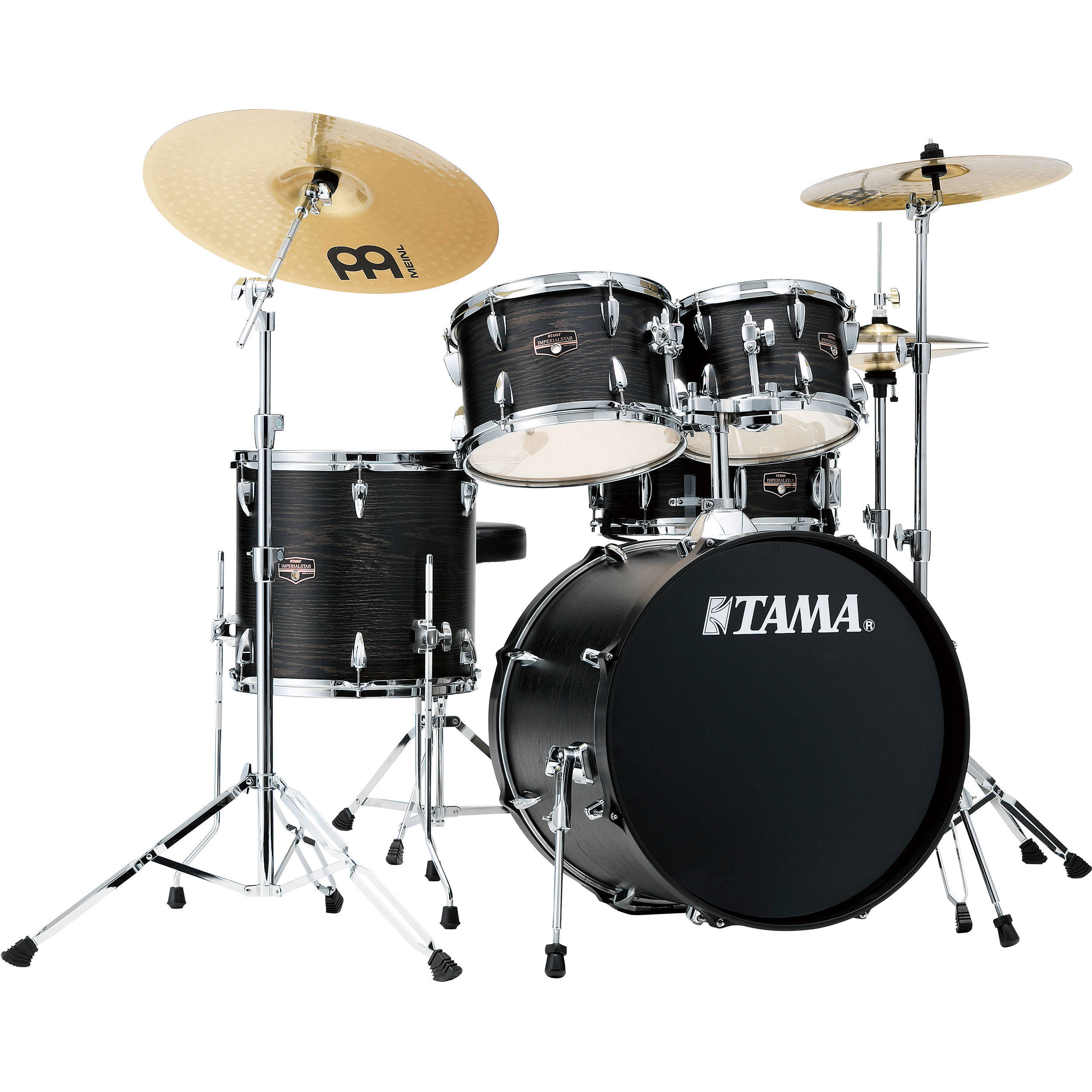 """Tama Imperialstar 5-Piece Drum Set with Hardware and Cymbals (20"""" Bass, 10/12/14"""" Toms, 14"""" Snare)"""