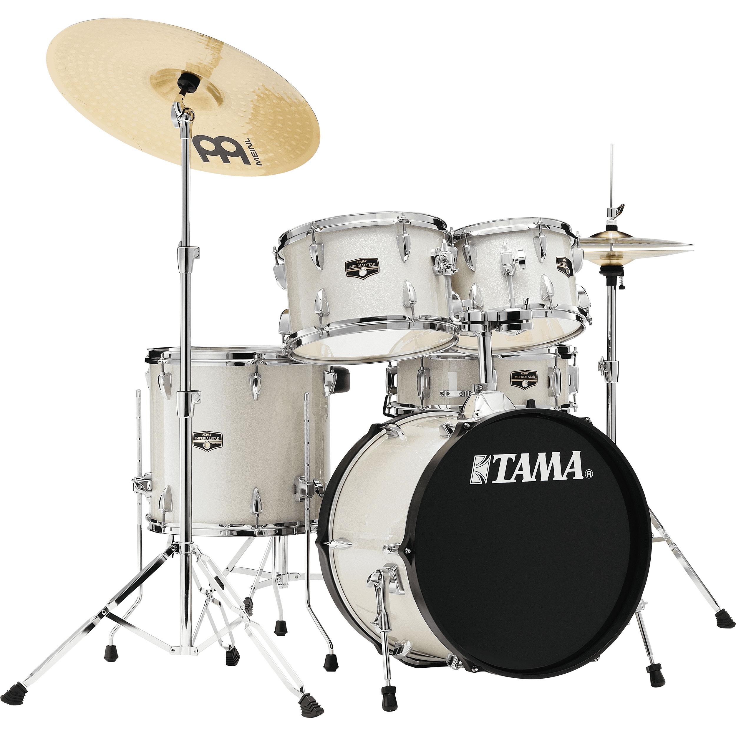 """Tama Imperialstar 5-Piece Drum Set with Hardware and Cymbals (18"""" Bass, 10/12/14"""" Toms, 14"""" Snare)"""