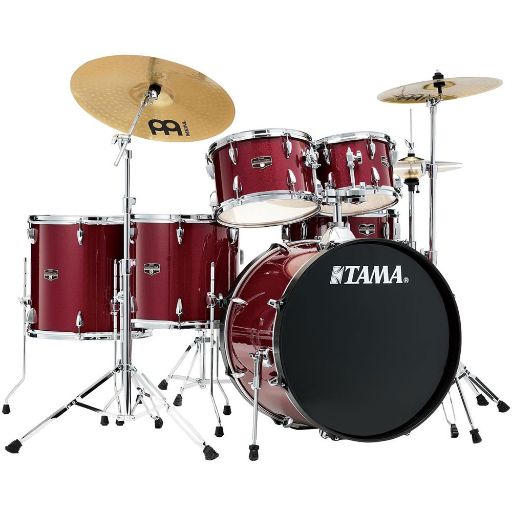 """Tama Imperialstar 5-Piece Drum Set with Hardware & Cymbals (22"""" Bass, 10/12/14/16"""" Toms, 14"""" Snare)"""