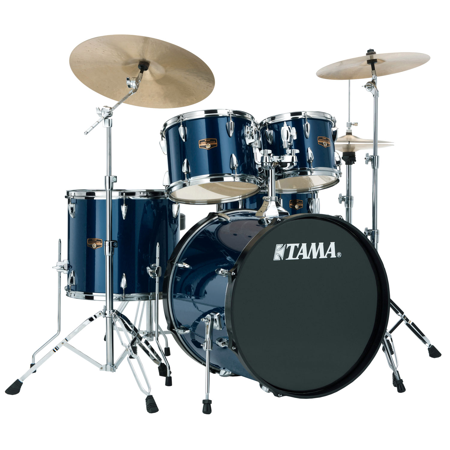 tama imperialstar 5 piece drum set with hardware cymbals 20 bass 10 12 14 toms 14 snare. Black Bedroom Furniture Sets. Home Design Ideas