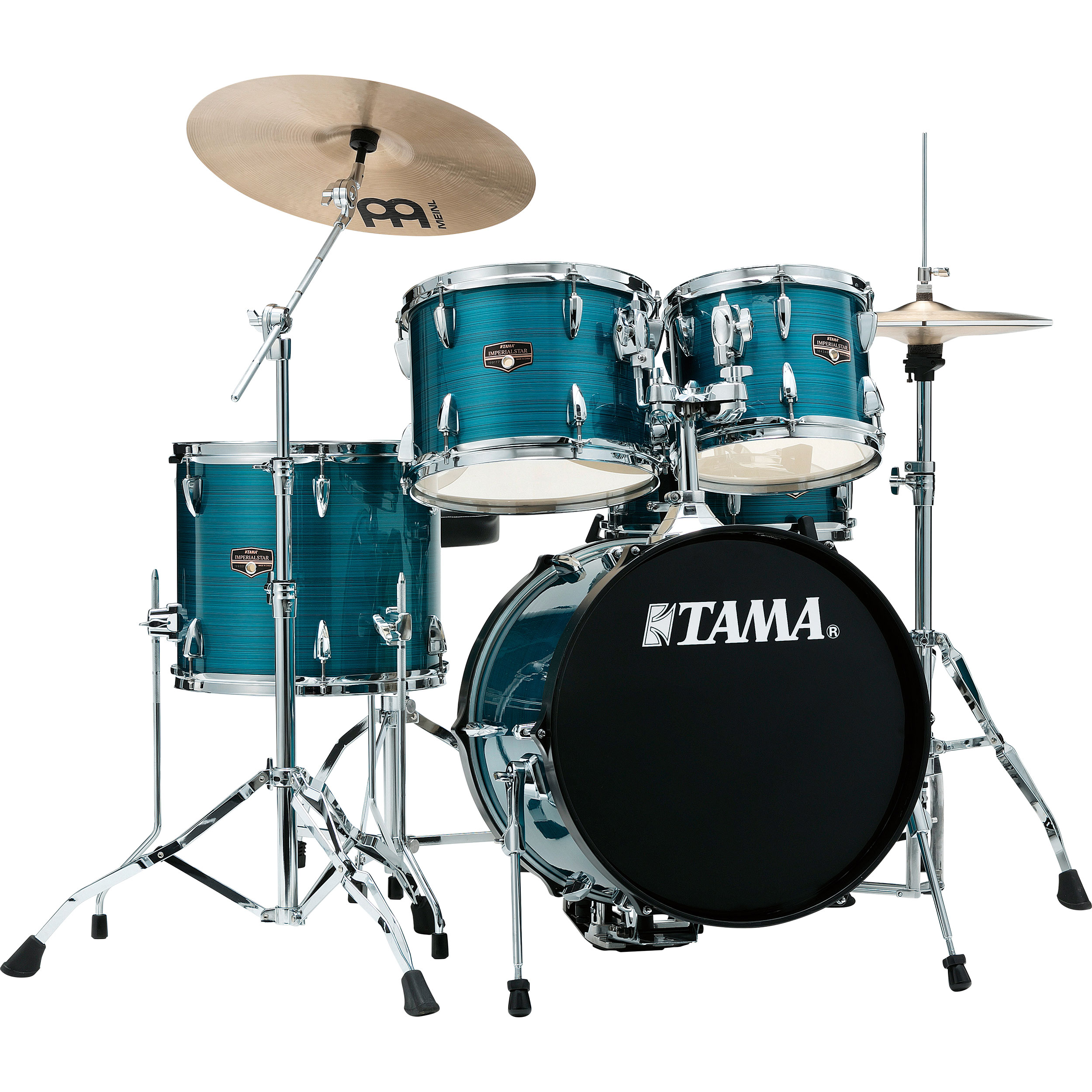 "Tama Imperialstar 5-Piece Drum Set with Hardware and Cymbals (18"" Bass, 10/12/14"" Toms, 14"" Snare)"