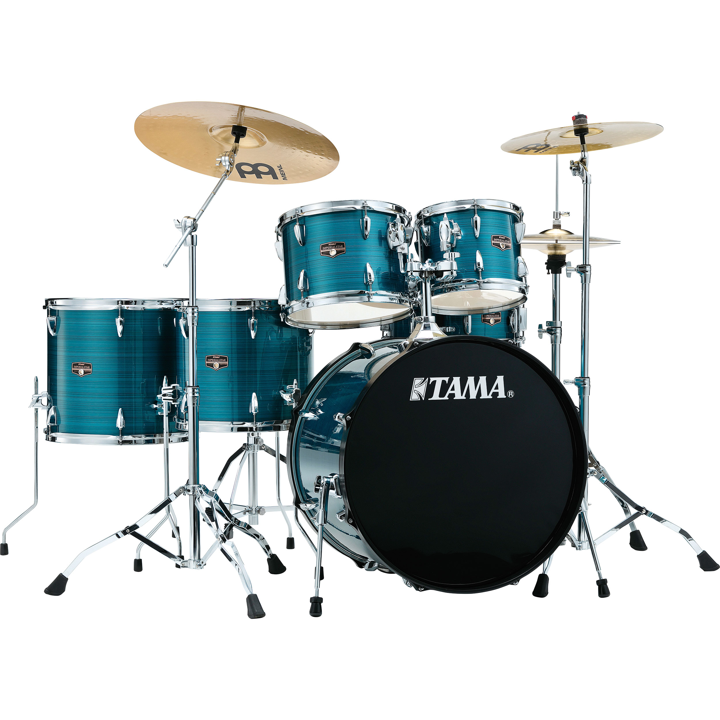 "Tama Imperialstar 6-Piece Drum Set with Hardware and Cymbals (22"" Bass, 10/12/14/16"" Toms, 14"" Snare)"