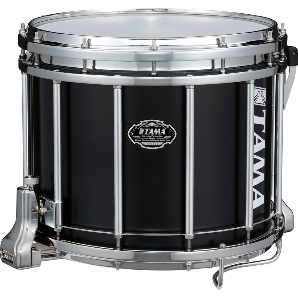 "Tama 12"" (Deep) x 14"" (Diameter) Maple Marching Snare Drum in Satin Black"