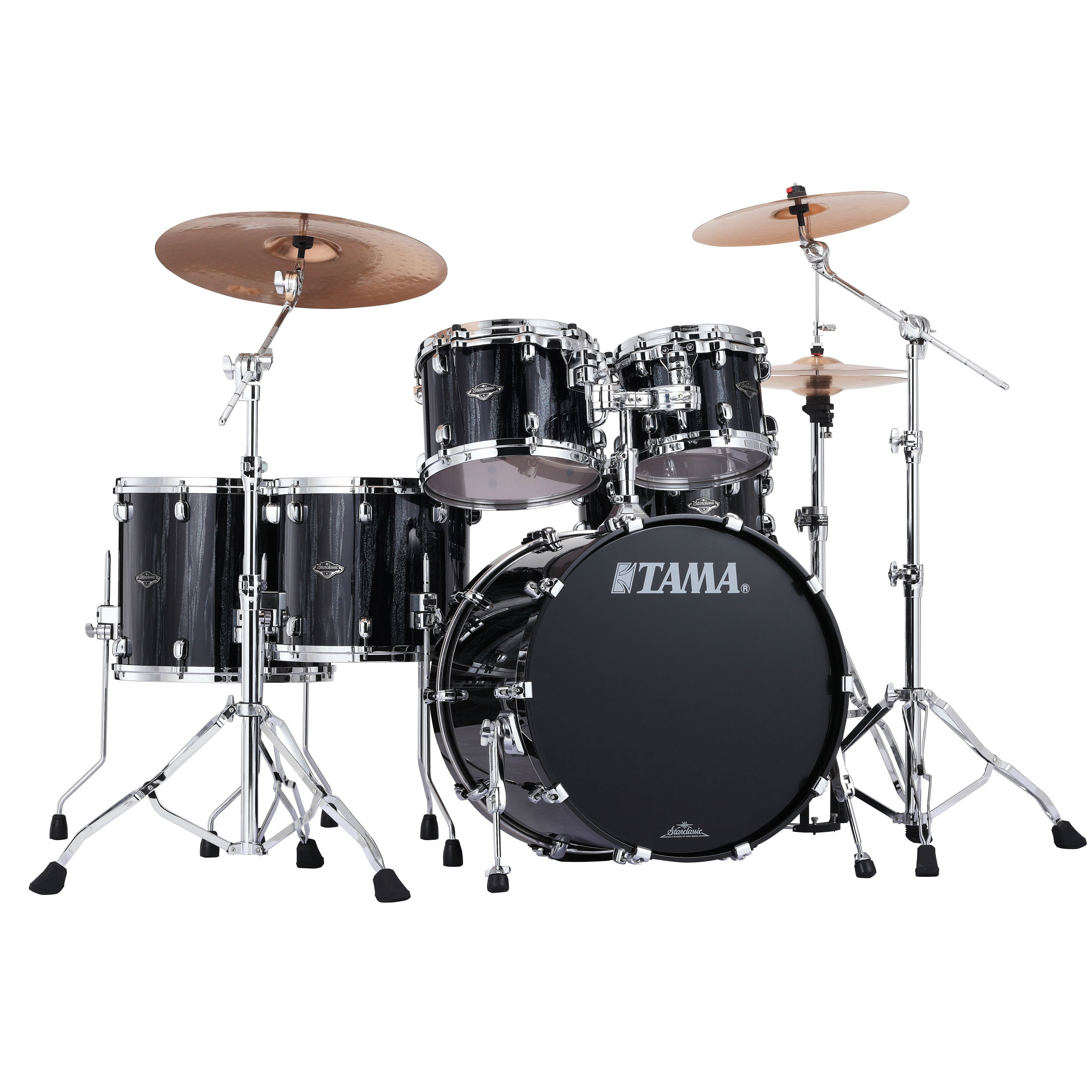 "Tama Starclassic Performer B/B 5-Piece Drum Set Shell Pack (22"" Bass, 10/12/14/16"" Toms) in Sparkle Finish"