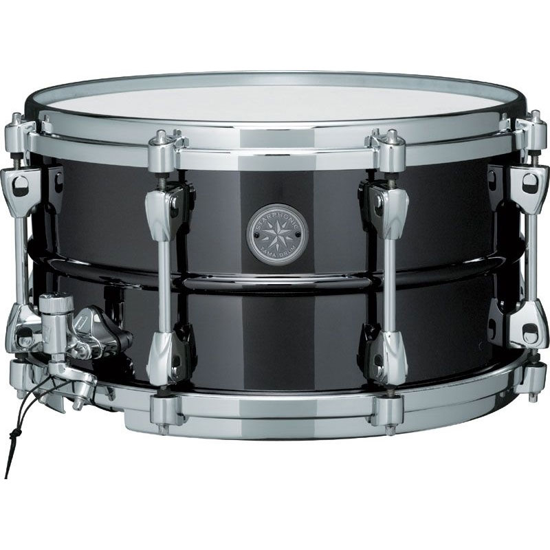 "Tama 7"" x 13"" Starphonic Black Nickel-Plated Steel Snare Drum"