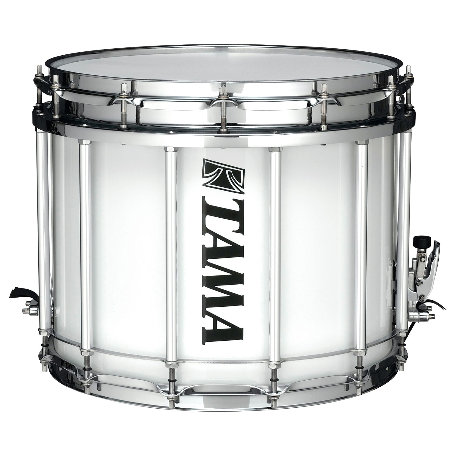 "Tama 12"" (Deep) x 14"" (Diameter) StarLight Marching Snare Drum in Sugar White Wrap"