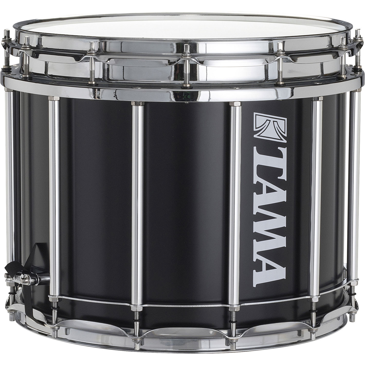"Tama 12"" (Deep) x 14"" (Diameter) StarLight Marching Snare Drum in Satin Black Lacquer"