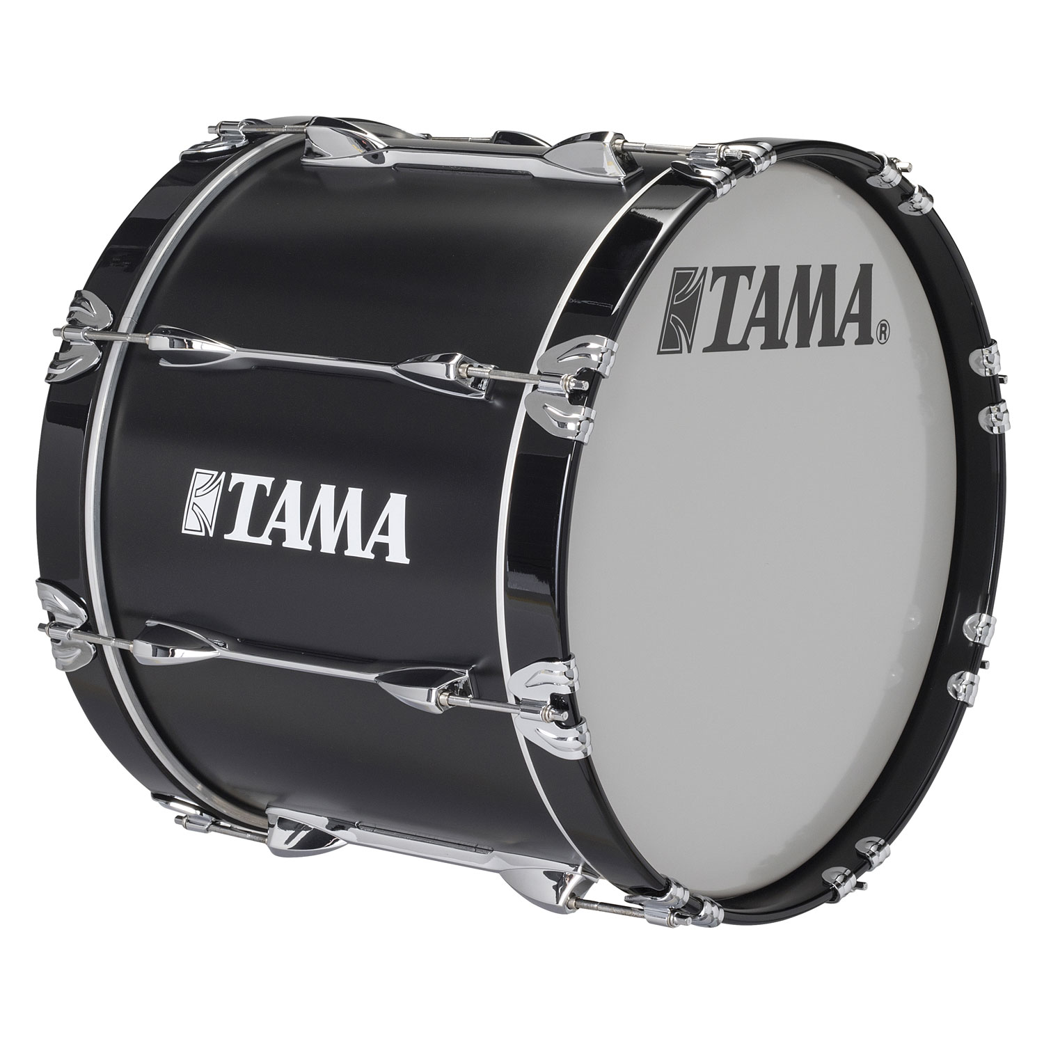 "Tama 16"" StarLight Marching Bass Drum in Satin Black Lacquer"