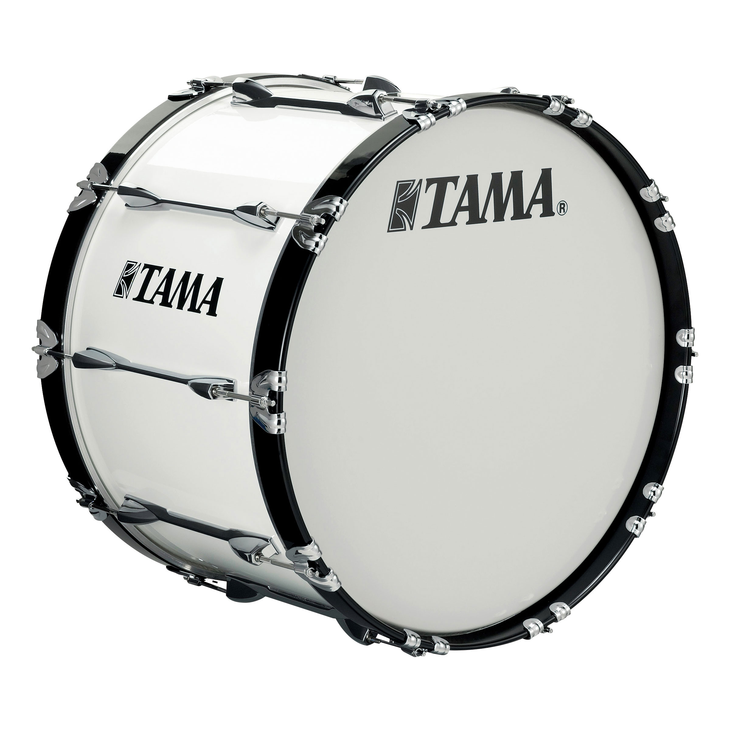 "Tama 24"" StarLight Marching Bass Drum in Sugar White Wrap"