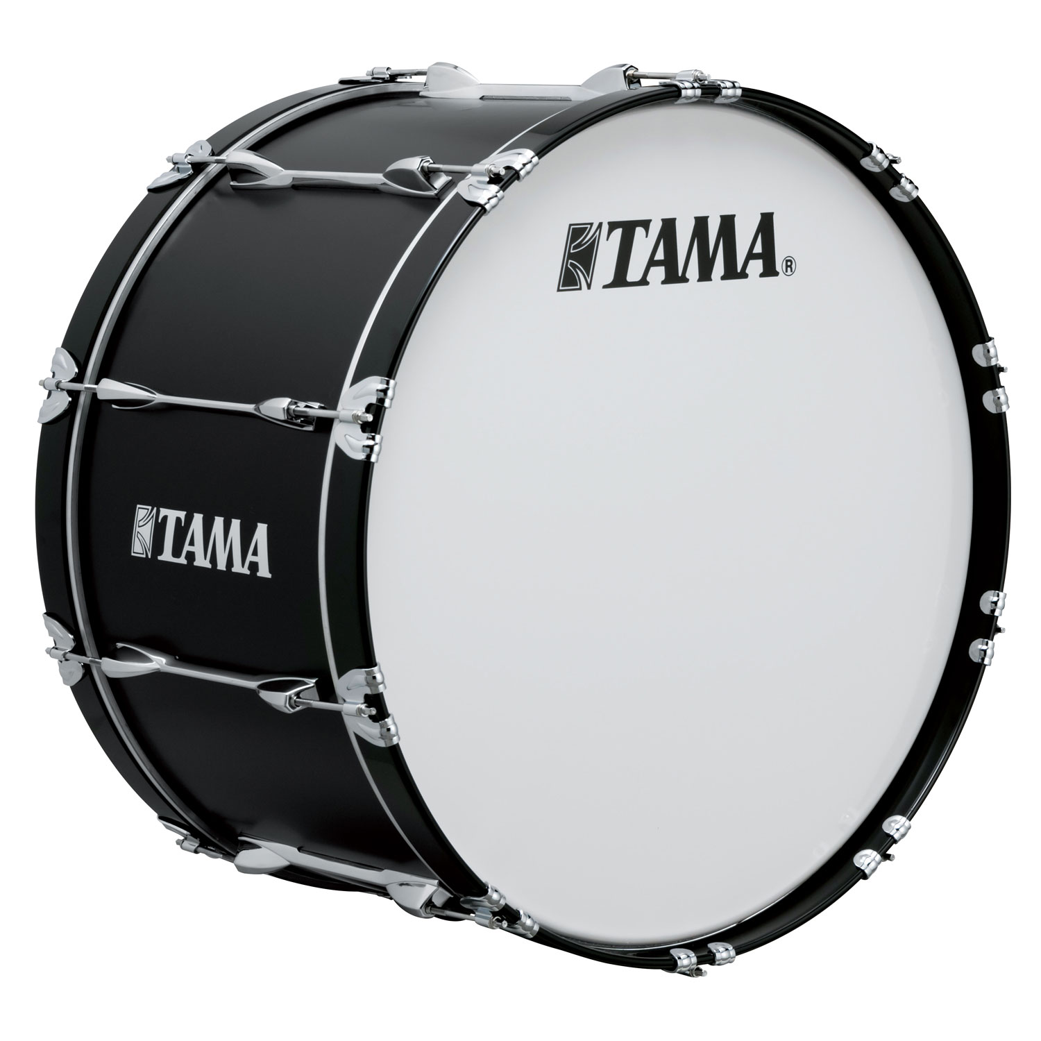 "Tama 28"" StarLight Marching Bass Drum in Satin Black Lacquer"