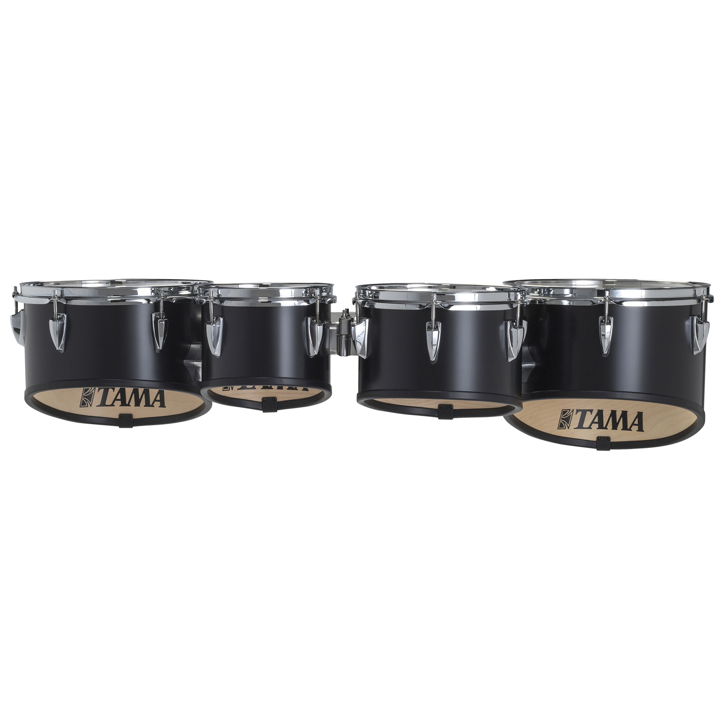 """Tama 8-10-12-13"""" StarLight Marching Tenors in Satin Black Lacquer"""