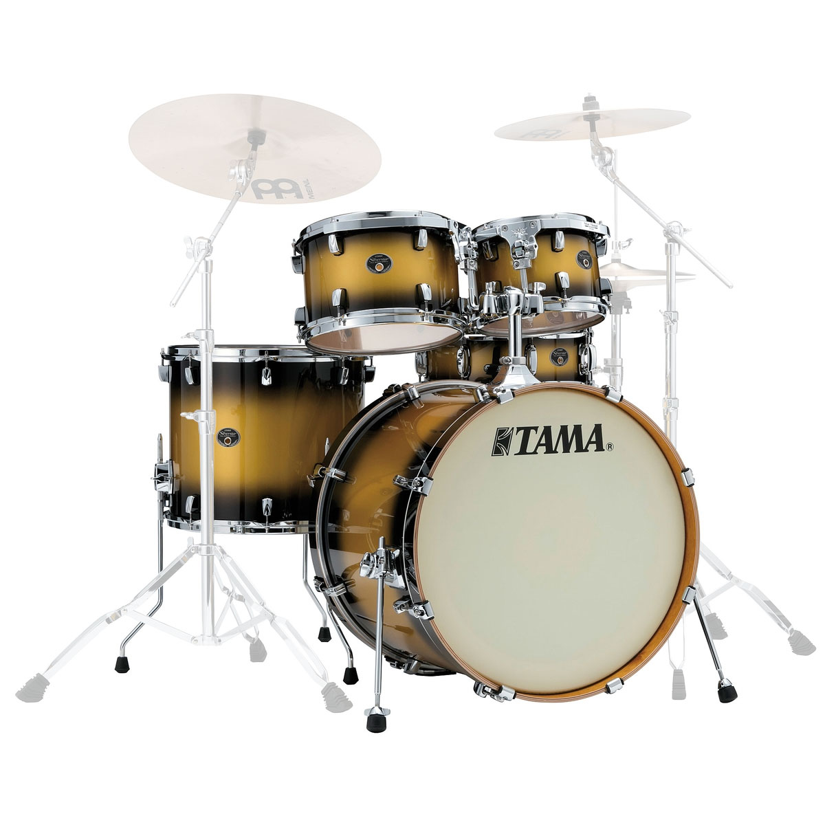 "Tama Silverstar 5-Piece Drum Set Shell Pack (22"" Bass, 10/12/16"" Toms, 14"" Snare) in Lacquer Finish"