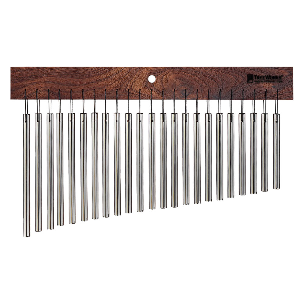 TreeWorks Classic Single Row 23-Bar Wind Chimes